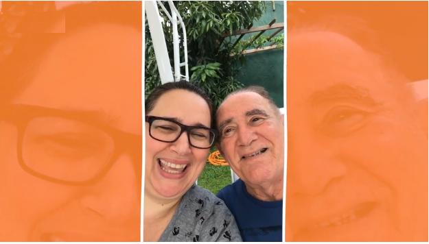 Renato e sua esposa no Instagram.