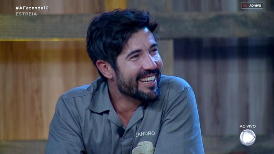 Sandro Pedroso participa da primeira prova do fazendeiro Imagem: Reprodução/RecordTV