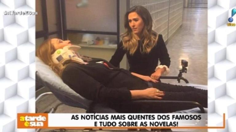 Sonia Abrão na gravação do Lady Night (Foto: Reprodução)