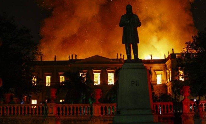Museu Nacional foi destruído por incêndio (Foto: Divulgação)