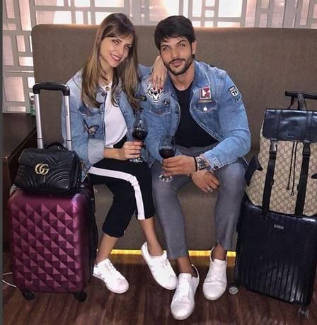 O ex-BBB Lucas e Ana Lúcia (Foto: Reprodução)