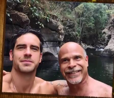 Marcos Pitombo pai e filho (Foto: Reprodução)