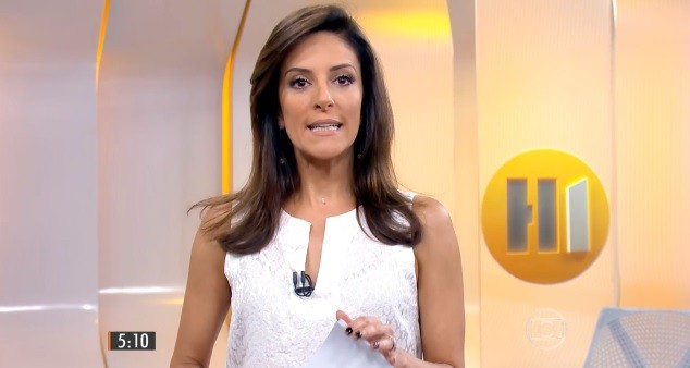 Monalisa Perrone no comando do Hora Um (Foto: Reprodução/Globo)