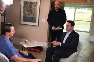 Bolsonaro concedeu entrevista recente à Record (Foto: Reprodução)