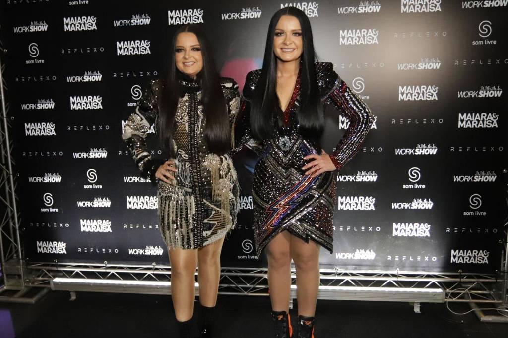 Maiara e Maraisa antes da gravação do novo DVD (Foto: Reprodução)