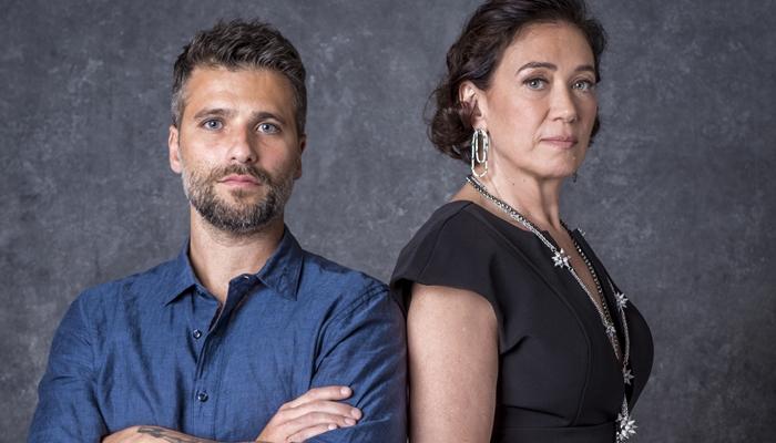 Gabriel (Bruno Gagliasso) e Valentina (Lília Cabral) em O Sétimo Guardião (Foto: Globo/João Cotta)