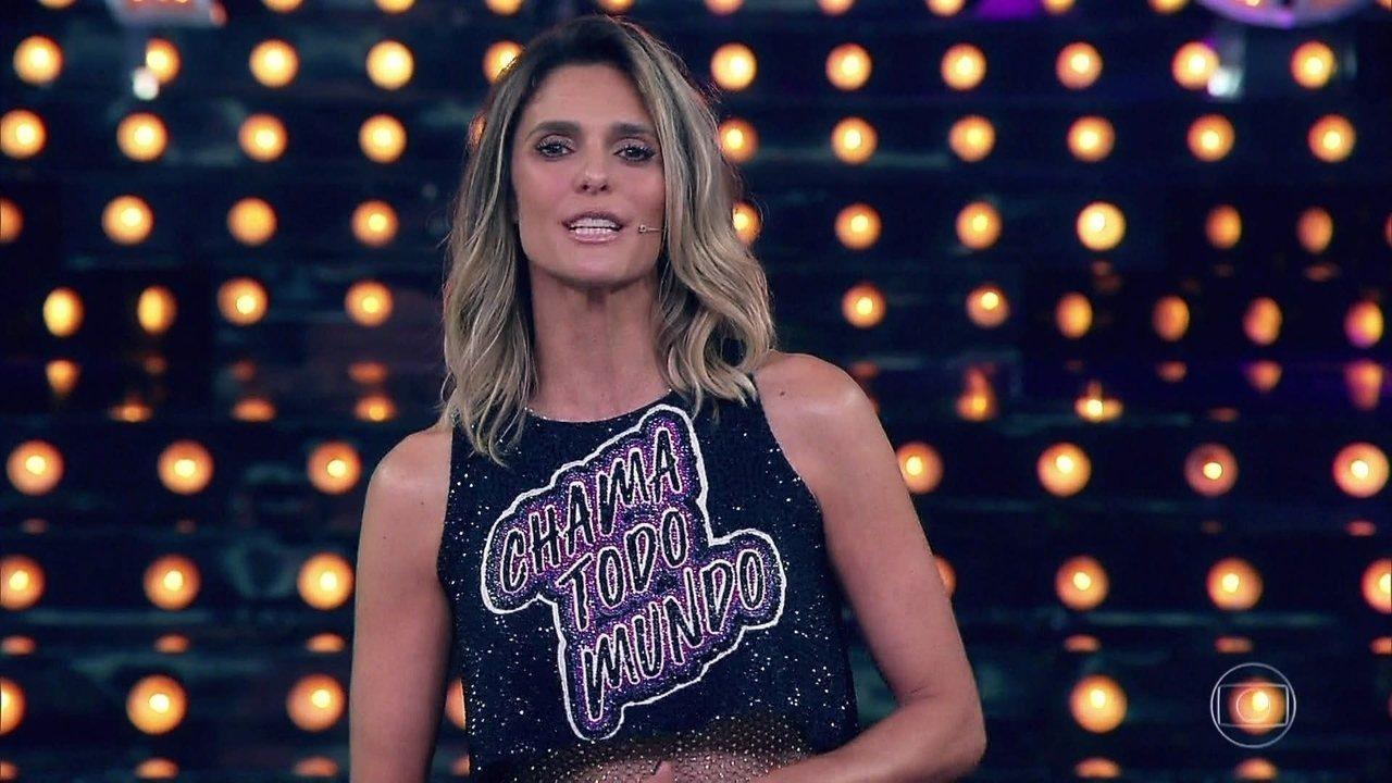 A apresentadora Fernanda Lima na estreia da 11ª temporada do Amor e Sexo (Foto: Reprodução/Globo)