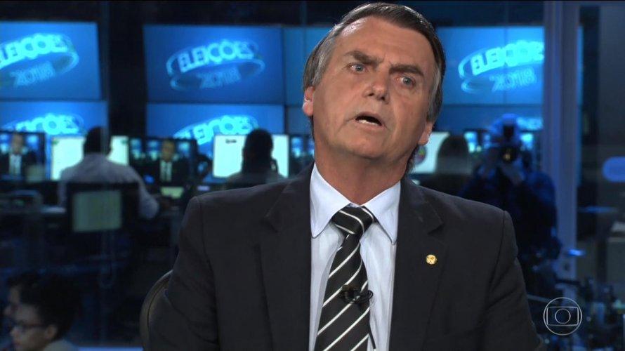 Jair Bolsonaro em passagem pela Globo (Foto: Reprodução)