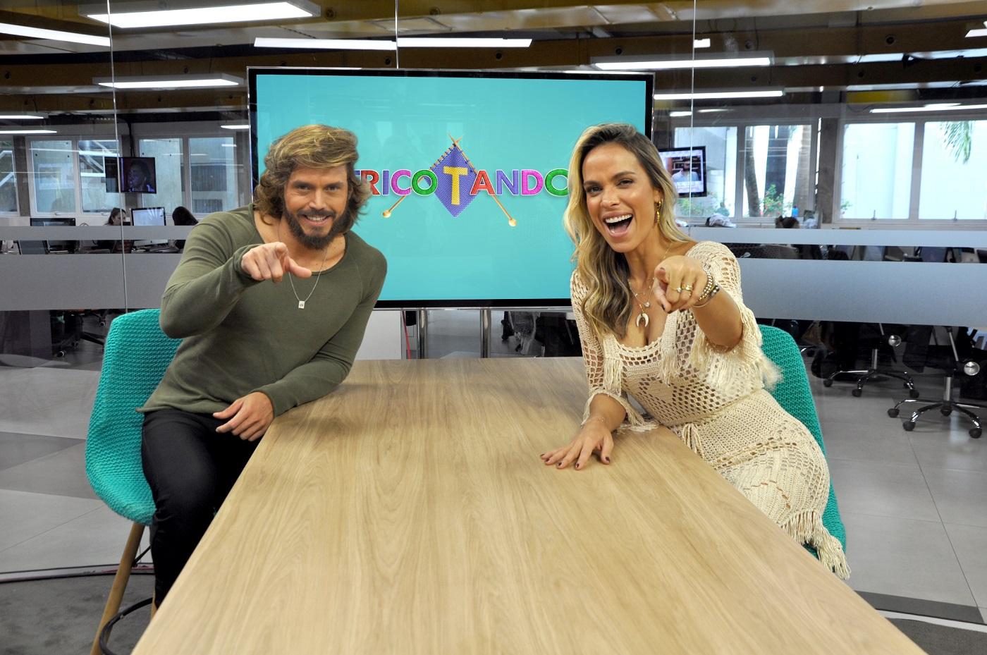 Lígia Mendes faz dupla com Franklin David no Tricotando (foto: Divulgação/RedeTV!)