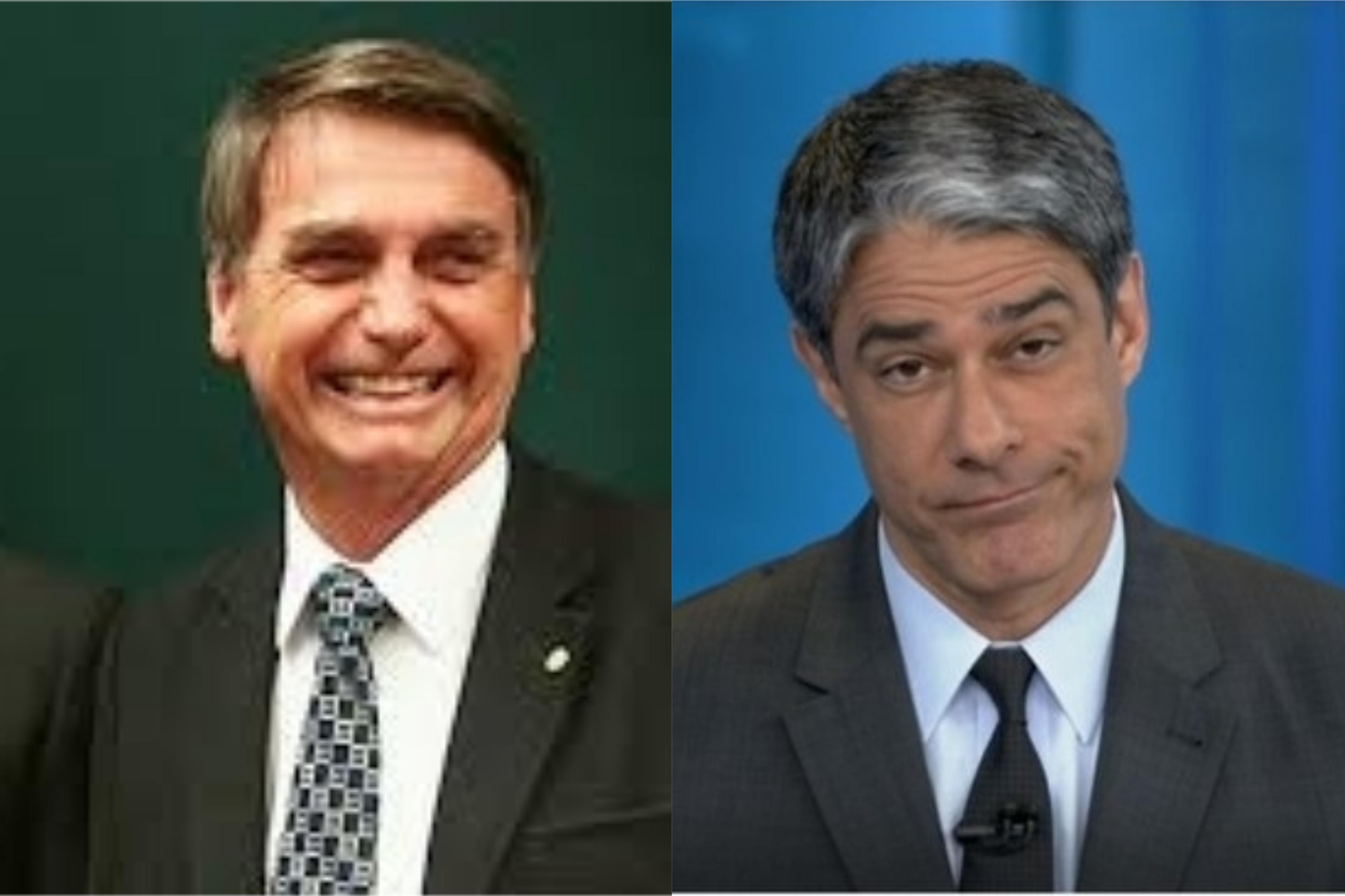 Jair Bolsonaro e William Bonner (Foto: Reprodução)