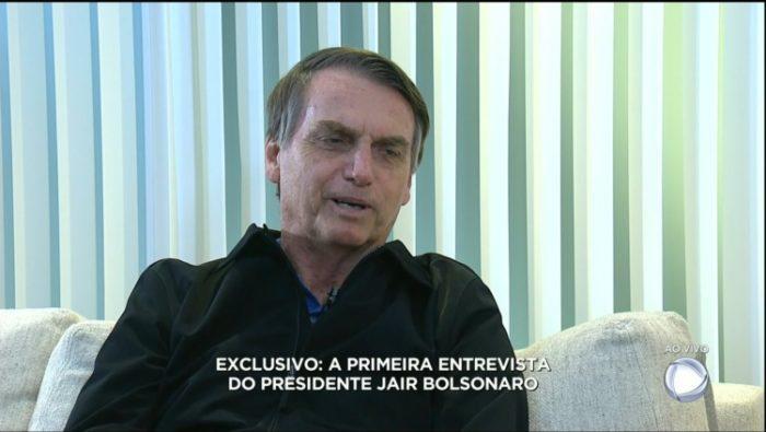 Entrevista do presidente eleito à Record (Foto: Reprodução/Record)