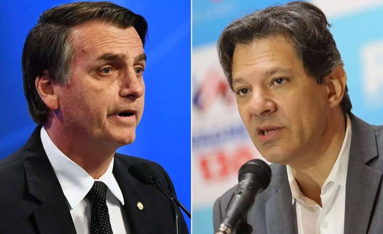9d5a5d0c16 Bolsonaro (PSL) e Haddad (PT) não se enfrentarão (Foto  Montagem