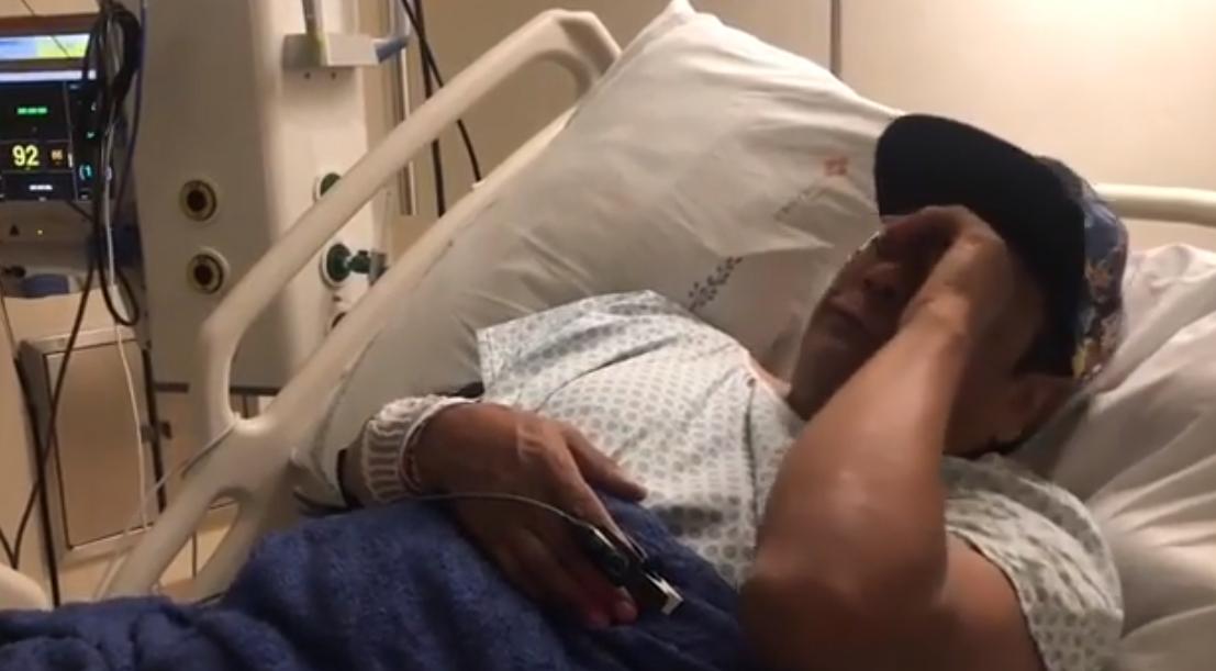 Liminha chora em hospital (Foto: Reprodução)