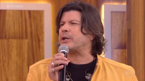 O cantor Paulo Ricardo na TV Globo (Foto: Reprodução)