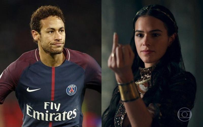 O jogador Neymar e a atriz da Globo, Bruna Marquezine (Foto: Divulgação)