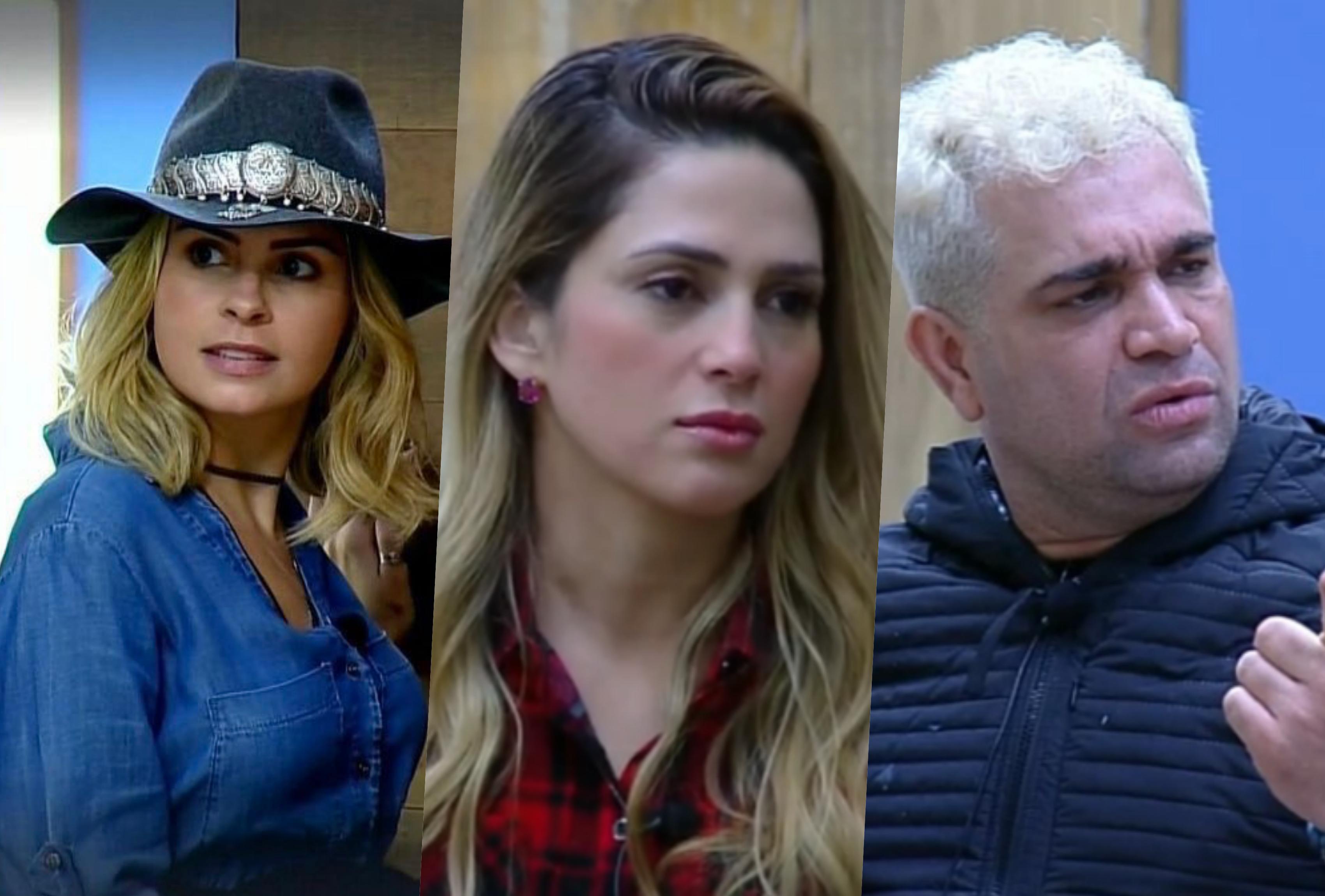 Ana Paula Renault, Nadja Pessoa e Evandro Santo estão na roça da Fazenda 10