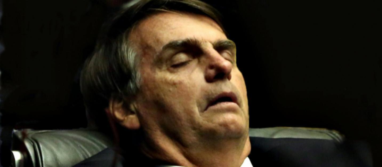 Jair Bolsonaro dormindo (Foto: Reprodução)