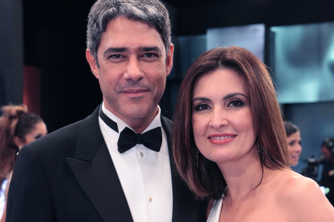 Fátima Bernardes e William Bonner (Foto: AGNews)