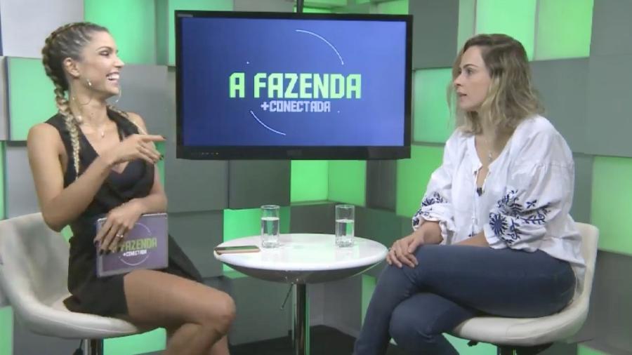 Ana Paula Renault foi entrevista por Flávia Viana (Foto: Reprodução/PlayPlus)