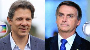 Presidenciáveis Fernando Haddad e Jair Bolsonaro (Foto: Divulgação/Montagem/TV Foco)
