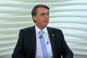 Bolsonaro quando esteve no Roda Viva (Foto: Divulgação)