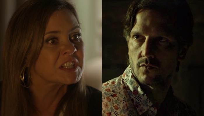 Laureta (Adriana Esteves) e Remy (Vladimir Brichta) em Segundo Sol (Foto: Reprodução/Globo)