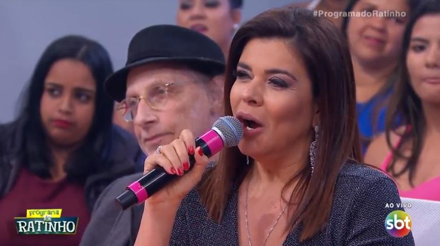 A apresentadora Mara Maravilha no quadro Programa do Ratinho. (Foto: Reprodução/SBT)