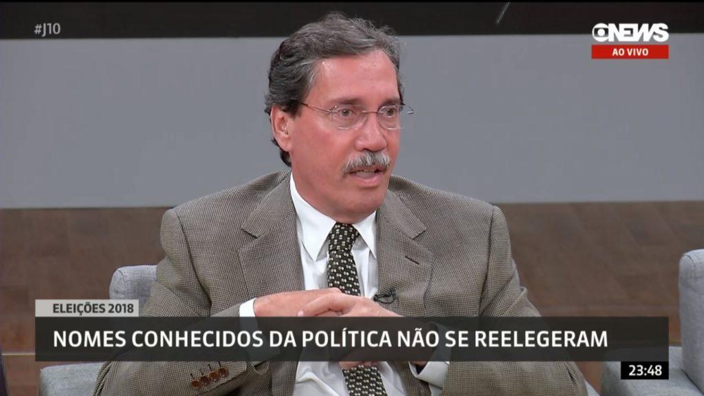 Merval Pereira foi alvo de brincadeiras dos colegas na GloboNews (Foto: Reprodução)