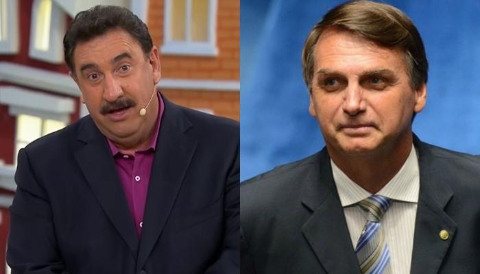 O apresentador Ratinho e o presidente Jair Bolsonaro (Foto: Reprodução/Divulgação/Montagem)