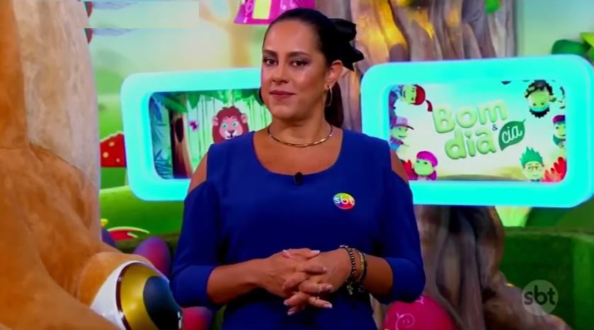 A apresentadora Silvia Abravanel no Bom Dia e Cia (Foto: Reprodução/SBT)