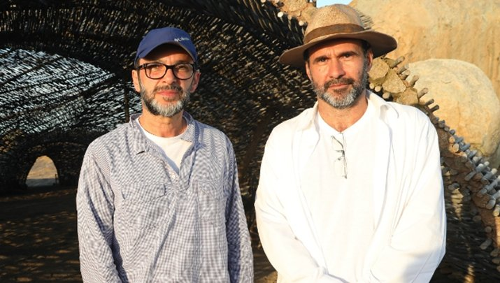 Diretor José Luiz Villamarim e o autor George Moura. (Foto: Divulgação)