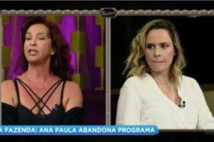 Ana Paula e Vida Vlatt se desentenderam ao vivo na Fazenda 10 (Foto: Reprodução)