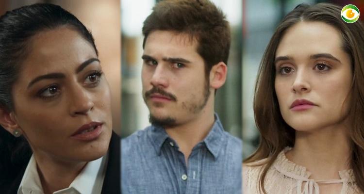 Novo triângulo amoroso em O Tempo Não Para (Foto: Montagem/TV Foco)
