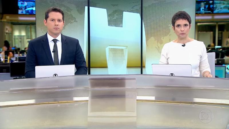Dony De Nuccio e Sandra Annenberg no Jornal Hoje (Foto: Reprodução/Globo)