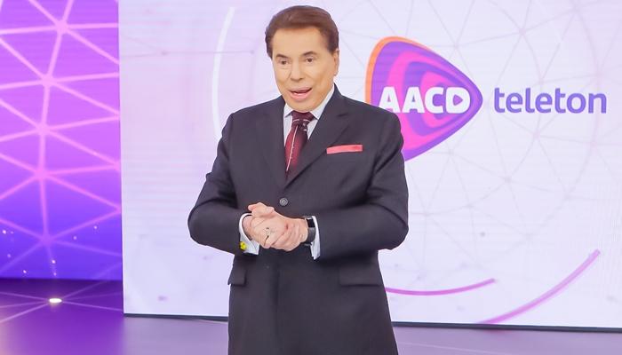 Silvio Santos no encerramento do Teleton 2018 (Foto: Lourival Ribeiro/SBT)