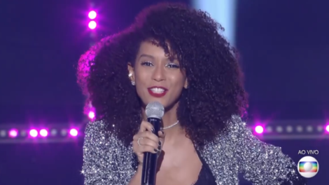 A apresentadora Taís Araújo na final da 2ª temporada do PopStar (Foto: Reprodução/Globo)