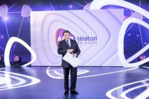 Silvio Santos no Teleton (Foto: reprodução)