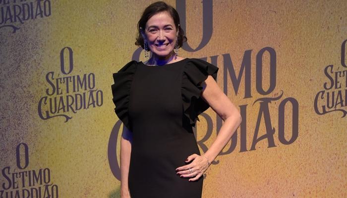 Lília Cabral no lançamento de O Sétimo Guardião (Foto: Globo/Cesar Alves)