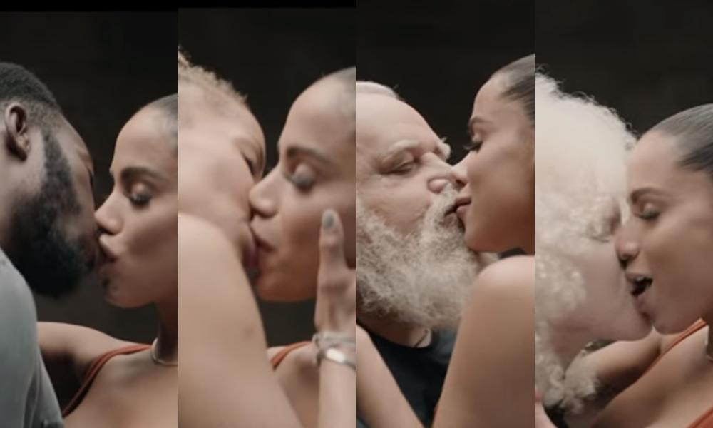 Anitta  beija muito em vídeo clipe. (Foto: Reprodução)