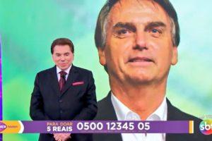 Silvio Santos ligou para Bolsonaro no Teleton (Foto: Reprodução/SBT)