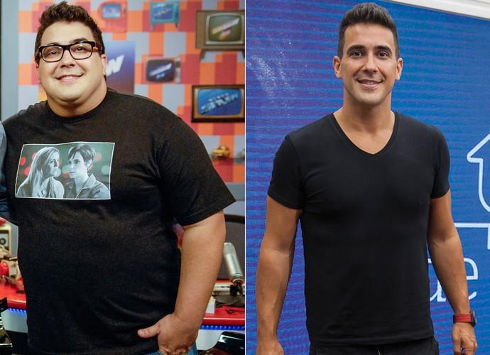 André Marques - Antes e depois (Foto: Rafael Sorín/ TV Globo - Artur