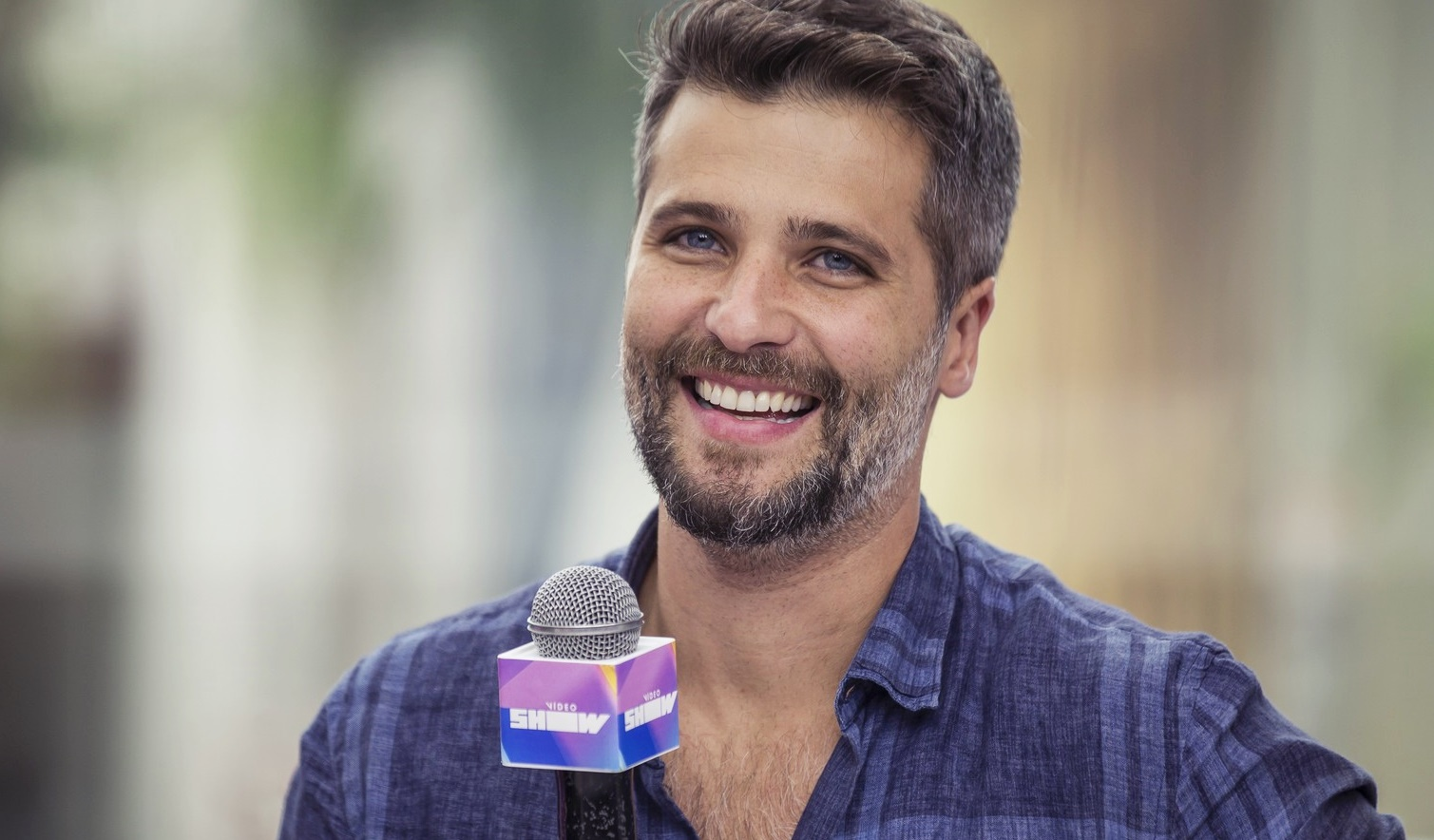 Bruno Gagliasso no Vídeo Show (Foto: Foto: Artur Meninea/Globo)