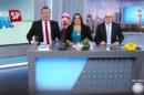 Reinaldo Gottino, Fabíola Reipert e Renato Lombardi no comando de A Hora da Venenosa (Foto: Reprodução/Globo)