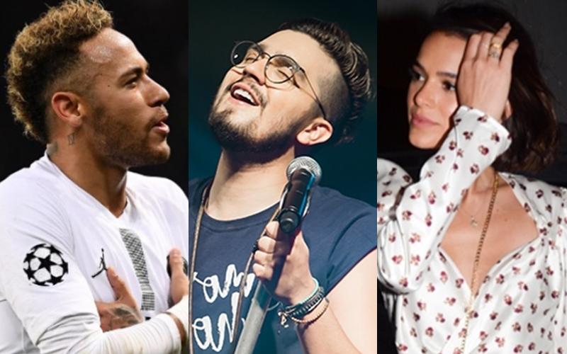 Neymar, Luan Santana e Bruna Marquezine (Foto: Reprodução)