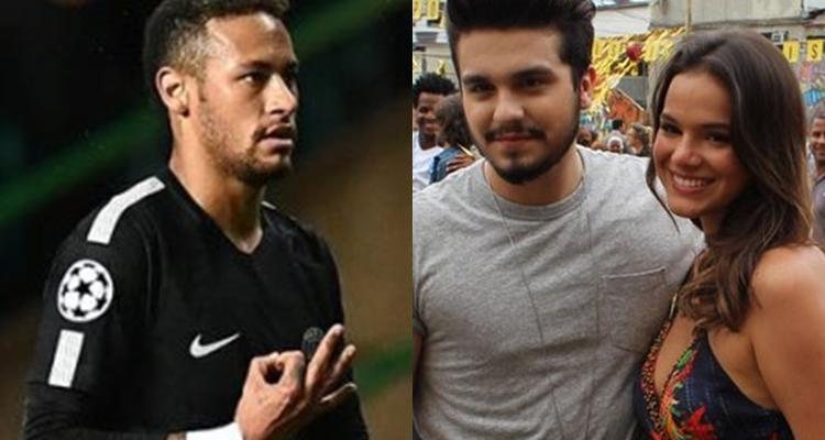 Neymar e Luan Santana voltaram a trocar mensagens, após ciúmes do jogador (Reprodução/Instagram)