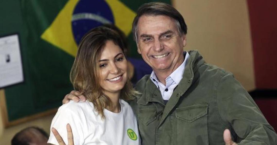 Jair Bolsonaro e Michele (Foto: Reprodução)