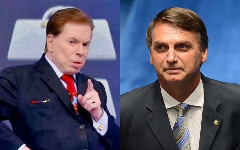 Silvio Santos do SBT e Bolsonaro (Foto: Reprodução)