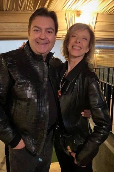 Marília Gabriela com Faustão na casa do apresentador Foto: Reprodução/Instagram