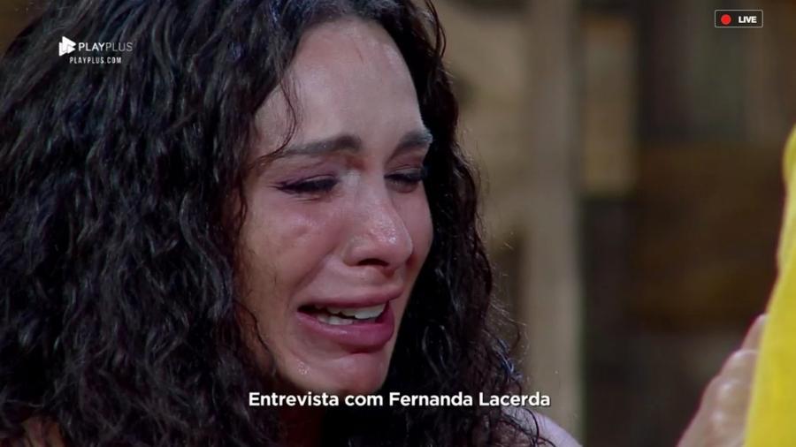 Fernanda Lacerda ficou em choque durante entrevista após eliminação da Fazenda