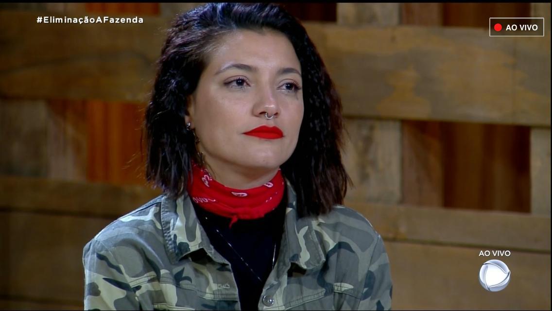 Gabi Prado ao ser eliminada em A Fazenda 10